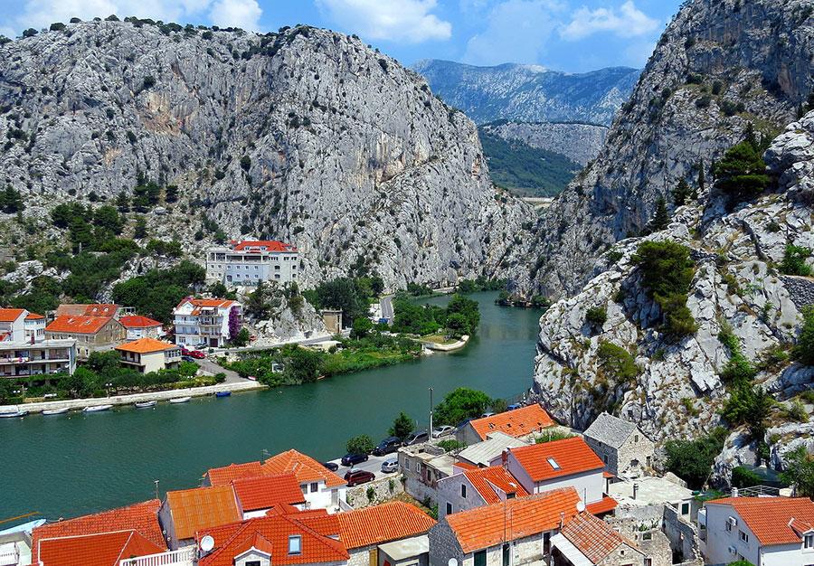 Omis and Cetina river Croatia
