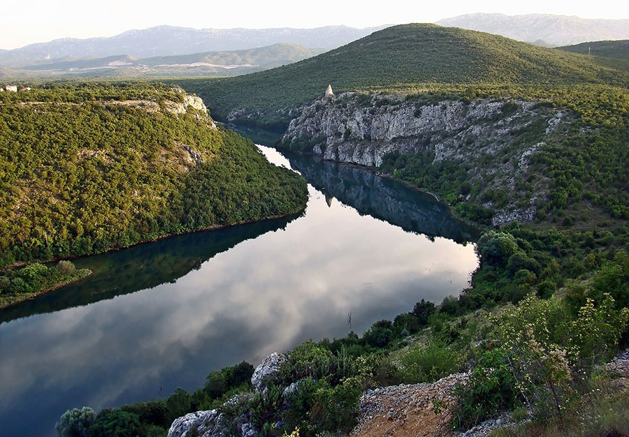 Cetina river in Sinj Croatia