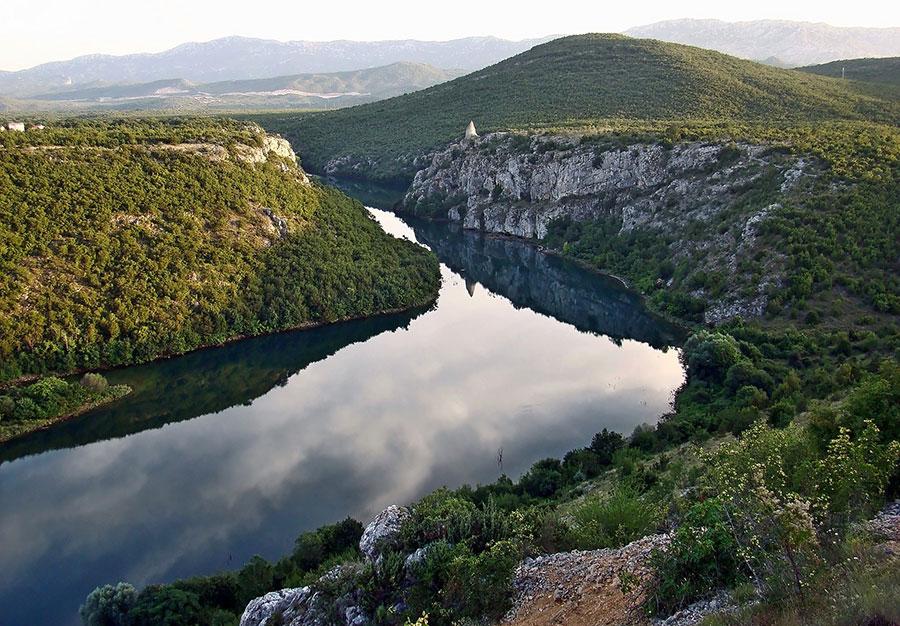 Cetina river in Sinj Croatia